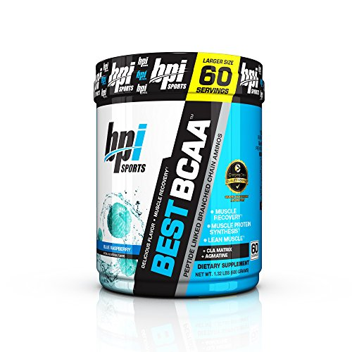 Bpi Sports Best BCAA Peptide Linked Branched Chain Aminos, Blue Raspberry, 60 Servings