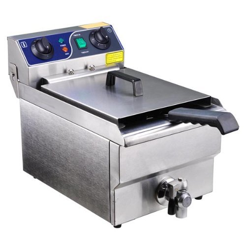 Commercial Stainless Steel Electric Deep Fryer w/ Drain