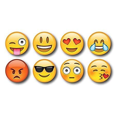 exciting Lives Emoji Fridge Magnets  Yellow