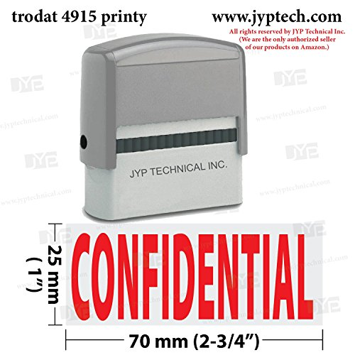 Extra Large Trodat 4915 Self Inking Rubber Stamp w. Confidential ()