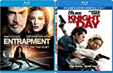 Knight and Day + Entrapment Blu Ray Action movie Set Combo Edition