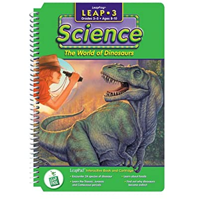"""LeapPad: Leap 3 Science - """"The World of Dinosaurs"""" Interactive Book and Cartridge: Toys & Games"""