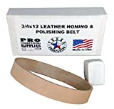 "knife that stays sharp - 3/4""x12"" Leather Honing & Polishing Belt - Strop Fits Ken Onion Work Sharp"