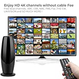 TV Antenna, 2020 Upgraded Outdoor Indoor Digital HD 4K Antenna, 220 Miles Range with Amplifier, 35ft Coax Cable(Included Extension Cord), Support All TVs,HDTV Antenna for Free Local Channels