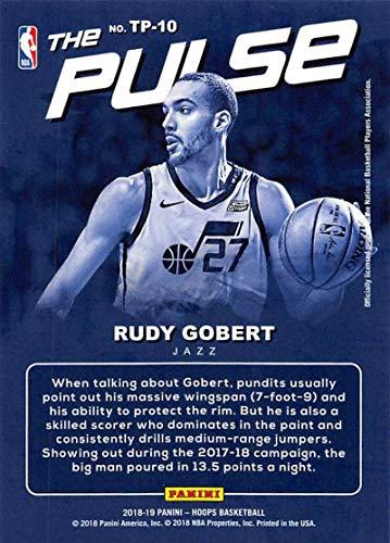 Amazon com: 2018-19 NBA Hoops The Pulse #10 Rudy Gobert Utah Jazz