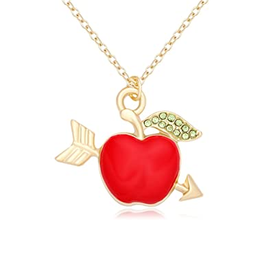 Amazon ruxiang an arrow through red enamel apple pendant ruxiang an arrow through red enamel apple pendant necklace jewelry gold aloadofball Images