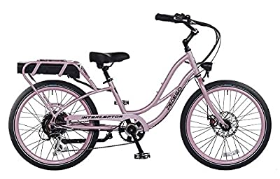 "Pedego Interceptor 24"" Step Thru Lilac with Black Balloon Package 48V 15Ah"