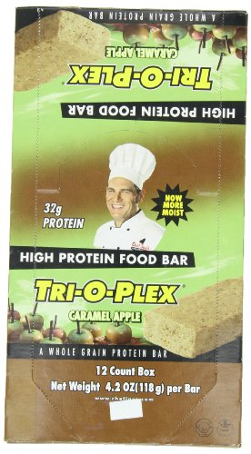 Tri-O-Plex High Protein Food Bar, Caramel Apple, 12 Count, 4.2 Ounce Bar