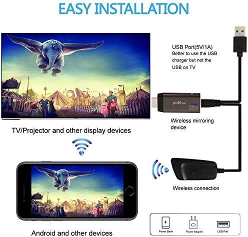 TV picK-me Adaptateur de Dongle Daffichage WiFi sans Fil Compatible avec iOS Android Windows Miracast R/écepteur Daffichage sans Fil 4K HD 5G//2,4 GHz Double Bande Moniteur Projecteur