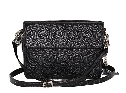 Gun Tote'n Mamas - Concealed Carry Purses - Leather - Black - Embroidered Lambskin