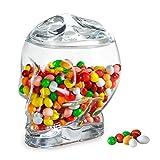 Artland 10963 Skulls Holiday Candy Jar, Glass