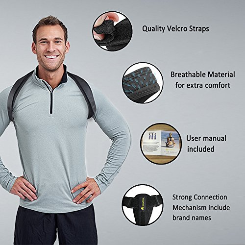 Back Posture Corrector for Women Men Kids, Back Brace,Clavicle Brace,Effective and Comfortable Posture Brace,The Elastic Design of The Back are More Comfortable and Convenient Than The Old Ones. by dobigthing (Image #3)