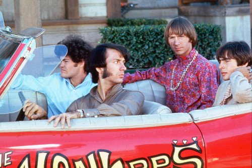 The Monkees Color Poster Pontiac Gto 1966 Classic Car Davy Jones Cast