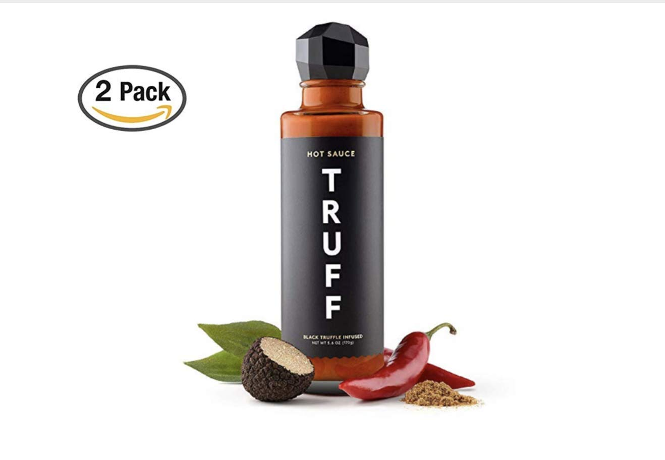 TRUFF Hot Sauce, Gourmet Hot Sauce with Ripe Chili Peppers, Black Truffle, Organic Agave Nectar, An ultra unique Flavor Experience in a 6 oz Bottle (2 Pack)