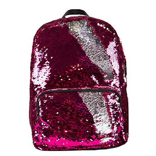 Pink to Silver Magic Sequin Backpack (Pink to silver) -
