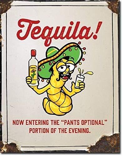Tequila Pants Optional Liquor Jose Funny Humor Wall Bar Decor Metal Tin Sign New TIN Sign 7.8X11.8 - Humor Signs Tin