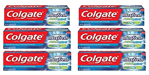 - Colgate MaxFresh with Whitening Toothpaste Electric Mint Shockwave 2.5 Oz Travel Size (Pack of 6)