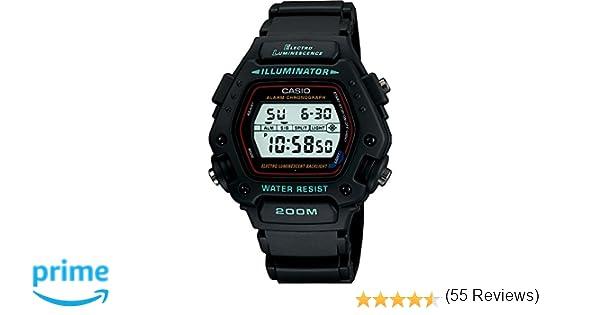 Casio DW-290-1VSEF - Reloj de caballero de cuarzo con correa negra: Amazon.es: Relojes