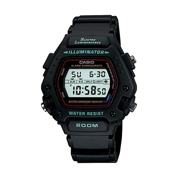 Casio DW-290-1VSEF - Reloj de caballero de cuarzo con correa negra 2