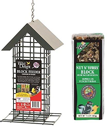 Wild Delight Block Feeder With Wild Delight Nut N Berry Block