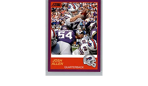 separation shoes f5bae 974bf Amazon.com: 2019 Score Purple Football #122 Josh Allen ...