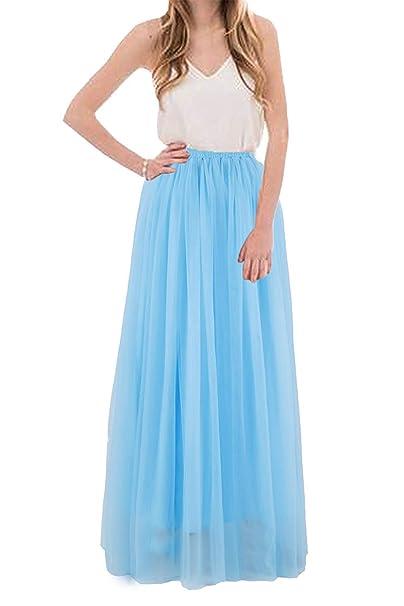 697accf09 Uswear - Vestido Largo de Tul para Mujer, para Novia, Dama de Honor ...