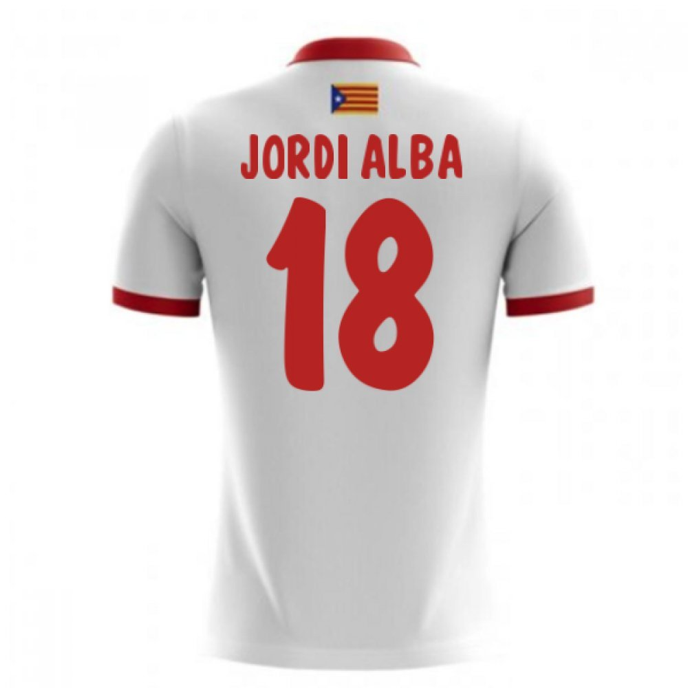 2017-18 Catalunya Airo Away Football Soccer T-Shirt Trikot (Jordi Alba 18) - Kids