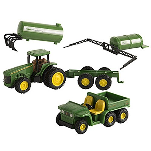 John Deere ERTL 3 Inch 5-Piece Plastic Value Set