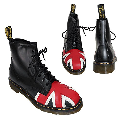 Dr. Martens 8417 Union Jack 1460 - Botas militares, color: Nero Black