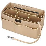 Betoores Purse Organizer Insert, Bag Organizer Insert for Tote Multipocket Felt Handbag Organizer for Accessories Key…