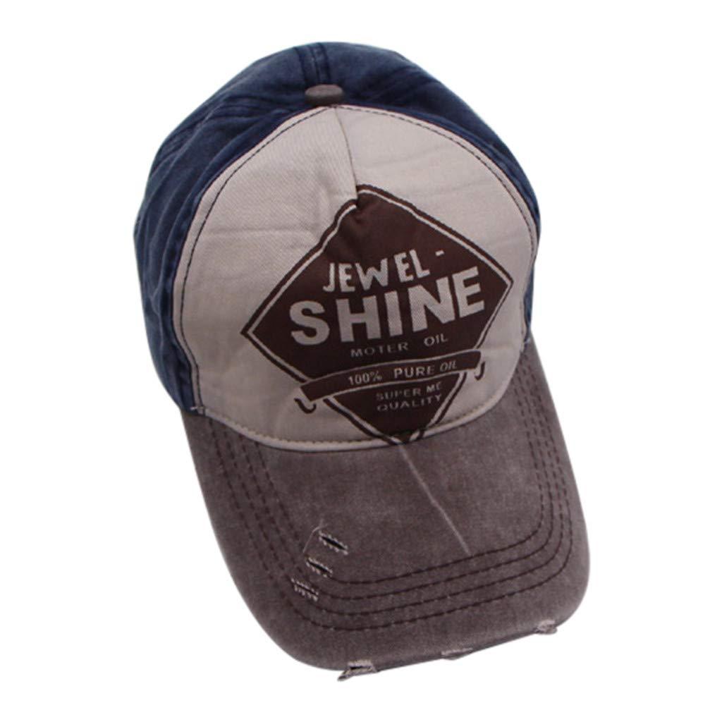 Men Women Cotton Baseball Cap Embroidered Letter Plain Adjustable Baseball Visor Cap Hip Hop Trend Cap (Black)