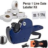 Perco 1 Line Date Label Gun Kit: Includes 8 Digits Date Gun Labeler, 10,000 Plain White Labels, Label Scraper,