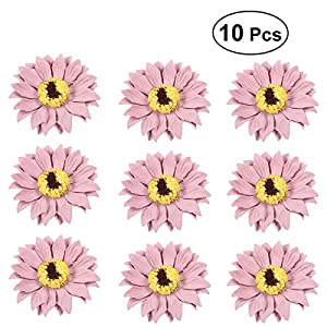 BESTOYARD 10pcs Wedding Party Prom Bride Bridesmaid Bust Flower Handmade Corsage Artificial Sunflower Ornaments(Pink) 114