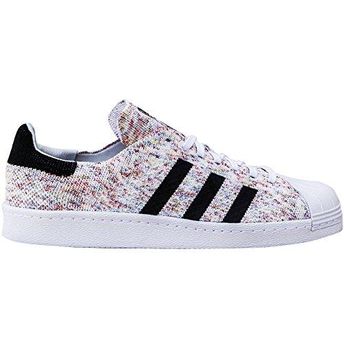adidas Originals Men's Superstar 80s Pk Running Shoe, Ftwwht/Cblack, ((12 M US)