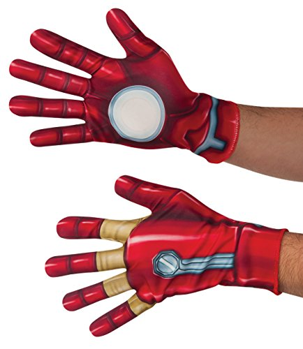 Captain America 2 Adult Costumes Gloves (Marvel Men's Captain America: Civil War Iron Man Gloves, Multi, One Size)