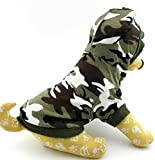 Ranphy Small Dog Cat Camo T-Shirt Puppy Tank Top Chihuahua Hoodie for Boy Crown Shirt Puppy Tee Shirt Green L