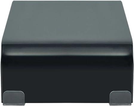 vidaXL Soporte para TV//Elevador Monitor Cristal Negro 40x25x11 cm