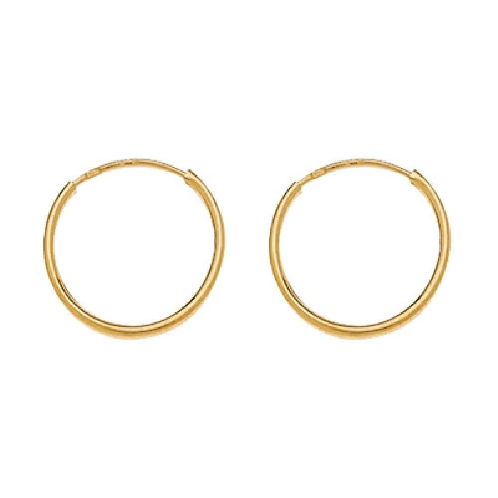 12 mm Creole Hoop Earrings 9k Yellow Gold So Chic Jewels