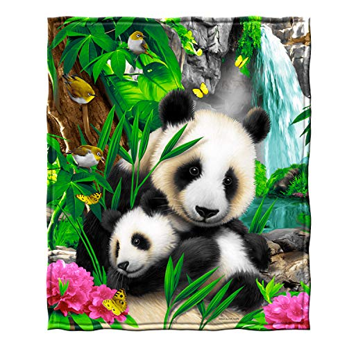 - Dawhud Direct Precious Pandas Fleece Throw Blanket