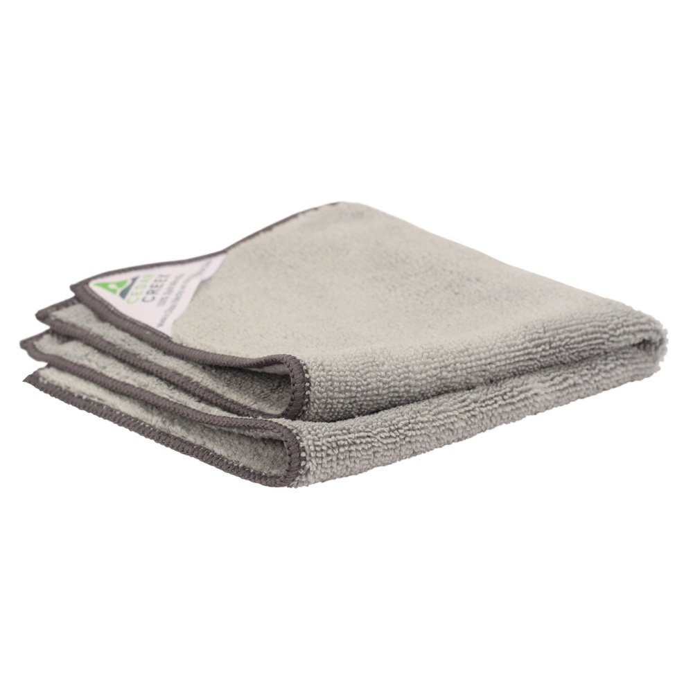 Cedar Creek 16''x16'' Premium Plush Microfiber Cleaning Cloths, Professional Grade, Gray, 144 Case Value Pack