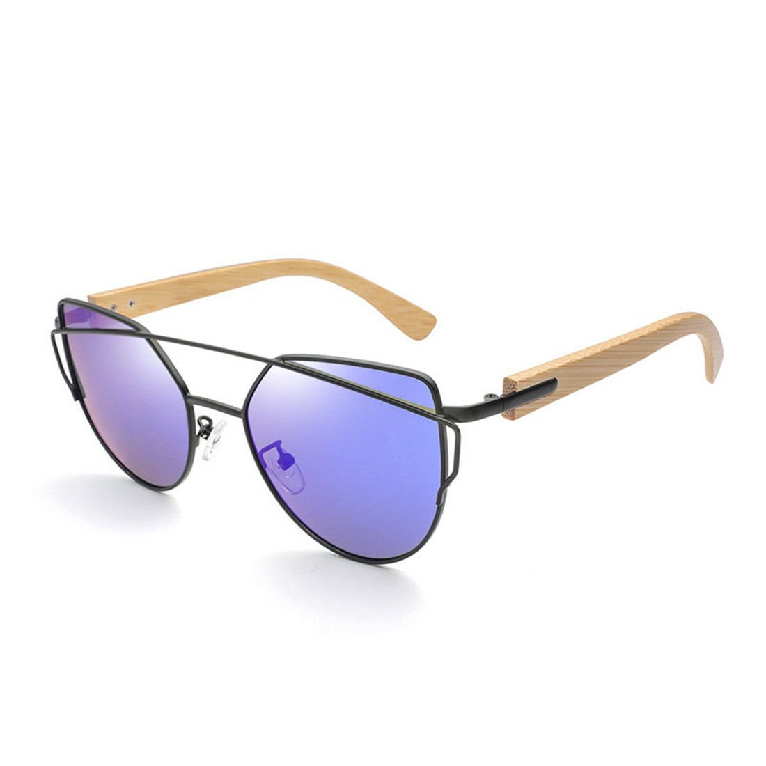 Flache Optische Sonnenbrille GCC Die Sonnenbrille Farbe Film Stilvolle Bambus Holz