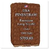 USA Pine Straw - Pine Needle Mulch - Premium Long Needle - Covers 3400 Sqft.