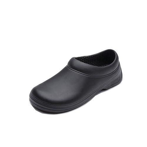 ebc415ddded Zapatos de Seguridad Trabajo Antideslizante para Uniforme Chef Enfermera  Médica Hombres Mujeres 36-44: Amazon.es: Zapatos y complementos