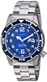 Reloj deportivo para hombre M50, reloj bucal de nailon por Momentum, reloj analógico de acero inoxidable para hombres con movimiento japonés, resistente al agua (500 m/1650 pies), color azul, 1 M-DV52U0