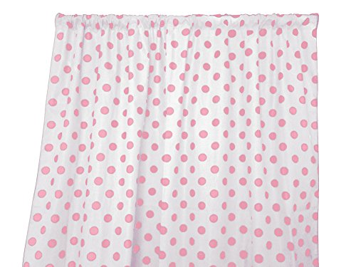 - Zen Creative Designs Premium Cotton Polka Dot Curtain Panel/Home Window Decor/Window Treatments/Dots / Spots (36 Inch x 58 Inch, Pink White)