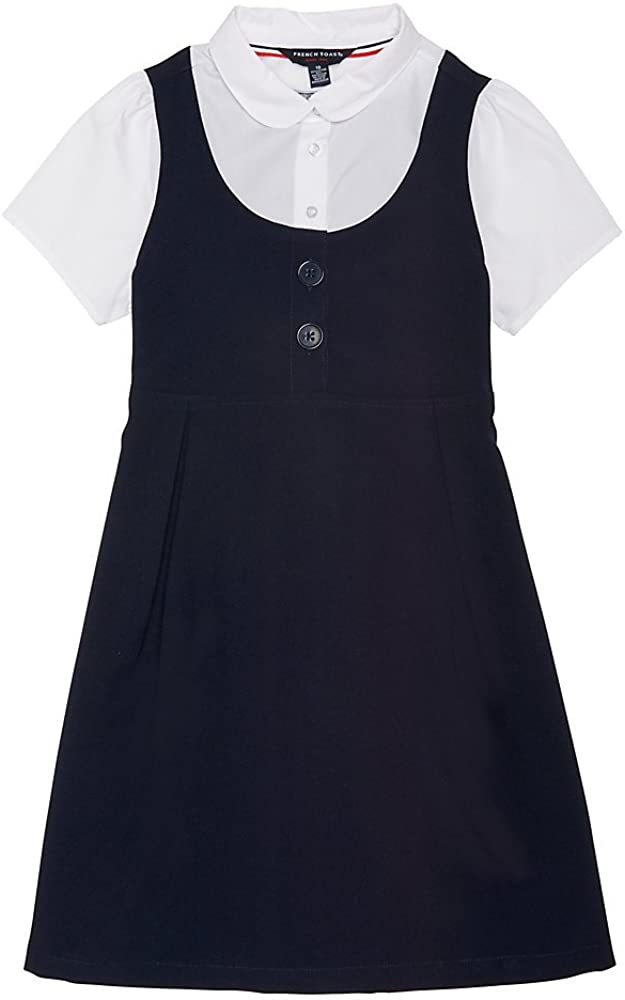 French Toast Girls' Peter Pan 2-fer Dress: Clothing