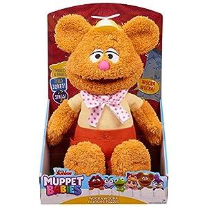 "Disney Junior Muppet Babies Wocka Wocka Feature Fozzie, Interactive Plush (Stands 12"")"