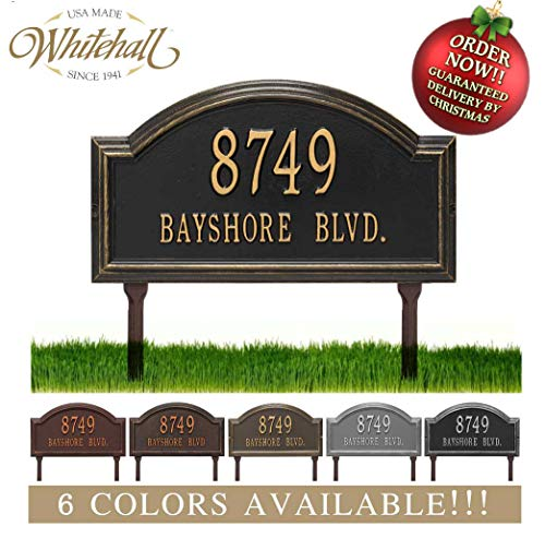 Metal Address Plaque Personalized Cast Lawn Mounted Providence Arch Plaque. Display Your Address and Street Name. Custom House Number Sign. Order by 12PM PST, DEC. 16TH and GET IT for Christmas!! -