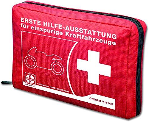 Actiomedic® CAR SAFETY Motorrad-Verbandtasche ÖNORM V 5100 Rot