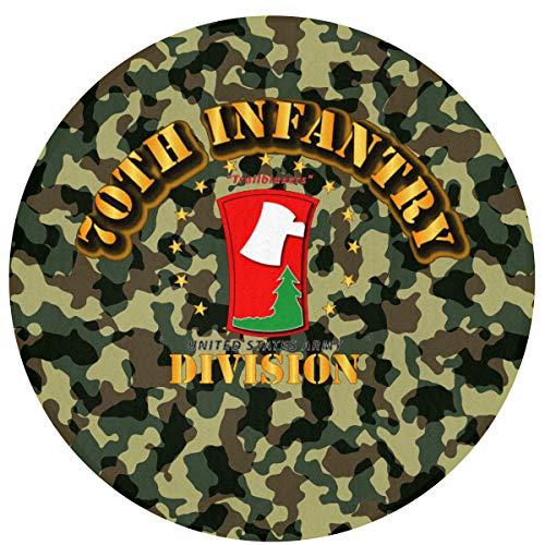 Readoormat 70th Infantry Division Trailblazers Waterhog Non-Slip Doormat,Indoor/Outdoor,Skid Resistant,Easy to Clean 60cm(24inch) ()